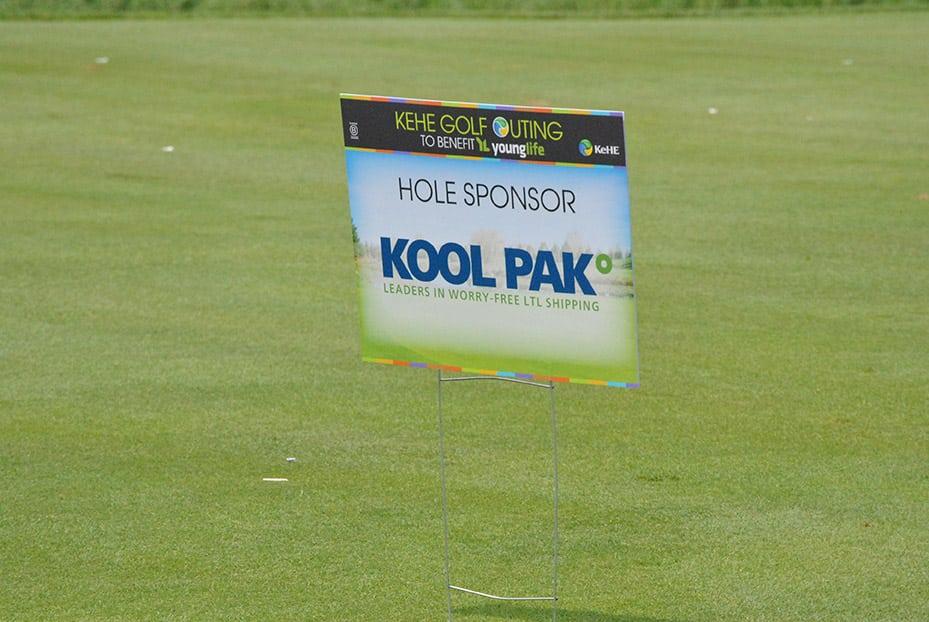 KeHE Golf Outing 2018 sponsorship sign