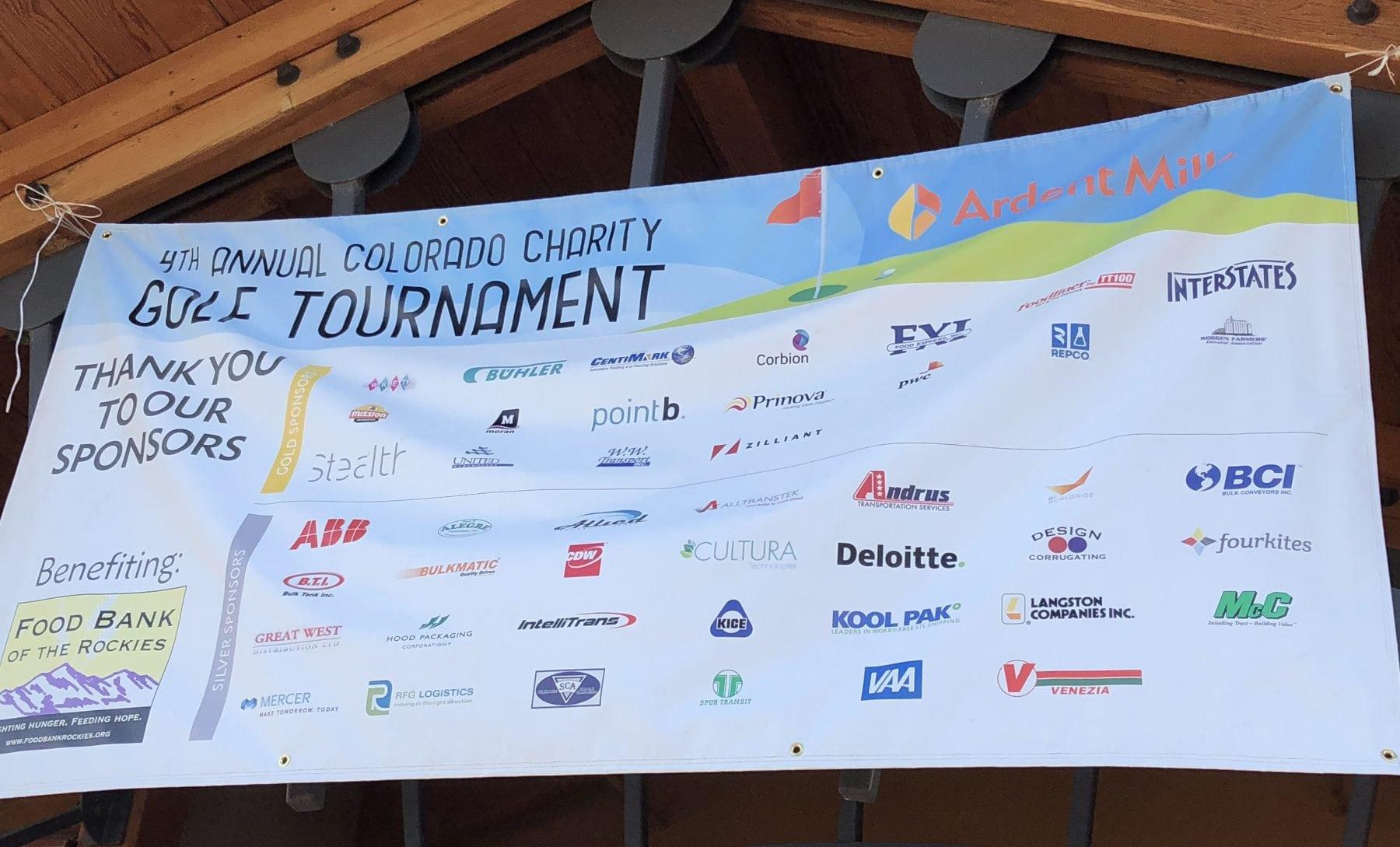 golf tournament sponsors banner